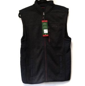 NWT Men's Orvis Sweater Fleece Vest Black /Black M